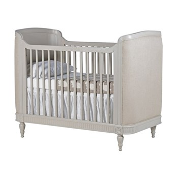 Portofino Nursery Collection Cot bed, 119 x 148 x 78cm, curved