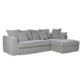 Corner sofa, 85 x 270 x 158cm, grey fabric