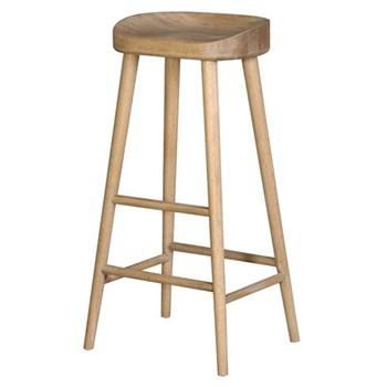 Farmhouse stool, 78 x 42 x 36cm, weathered oak