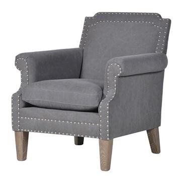 Armchair, 82 x 72 x 80cm, grey fabric
