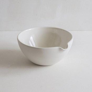 Mixing bowl, pouring, 20cm, half glazed porcelain