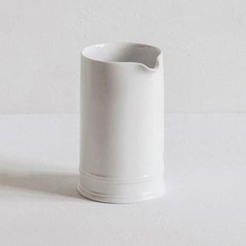 Classic plain Tea tray milk jug, glazed porcelain