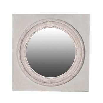 Round mirror in square frame, 92 x 72cm
