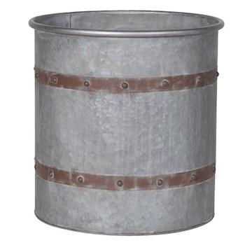 Tub planter, 41 x 41cm, metal