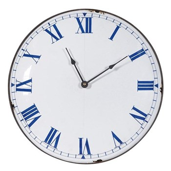 Wall clock, 35cm, distressed white