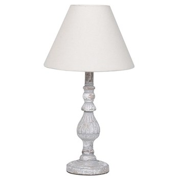 Table lamp with shade, 47 x 27cm, wood