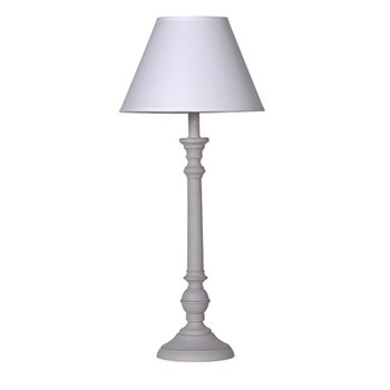 Shaped lamp with shade, 59 x 24cm, cream