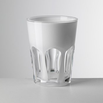 Double Face Acrylic highball, 11cm, white