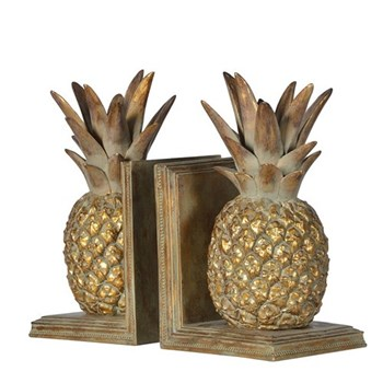 Pineapple bookends 26cm