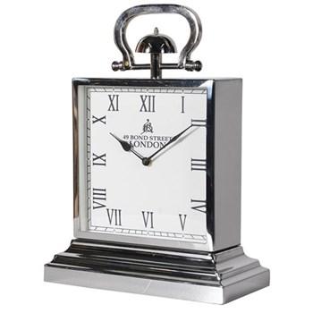 Square mantel clock, 45 x 32cm, steel