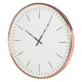 Large wall clock, 60 x 61cm, copper