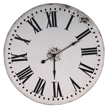 Large wall clock, 106.5cm, white