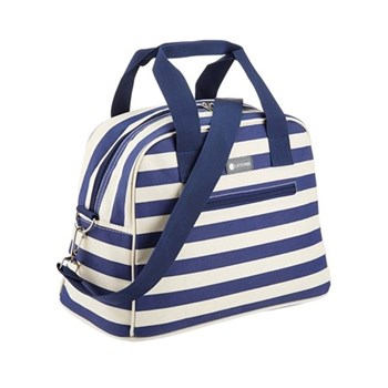 Blue Stripes Holdall-style coolbag, 36 x 19 x 25cm