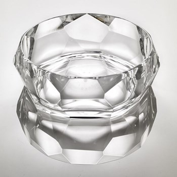 Supernova Acrylic salad bowl, 10 x 25cm, clear
