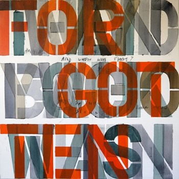 Example Artwork For got ten by Niki Hare, 100 x 100 x 3.6cm