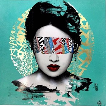 Example Artwork Halo - Jade Version by Hush, 60 x 60cm