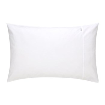 500TC Cotton Sateen Pair of housewife pillowcases, 50 x 75cm, snow