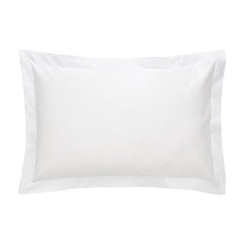500TC Cotton Sateen Pair of oxford pillowcases, 50 x 75cm, snow