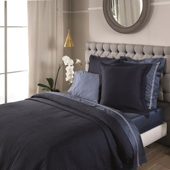 Christobel Double bedcover, 240 x 260cm, midnight polyester
