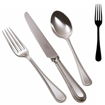 Bead Table fork, silver plate