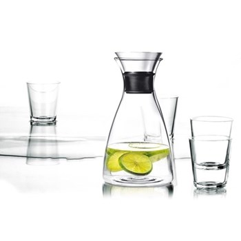 Drip-free carafe with 4 25cl tumblers 1 litre