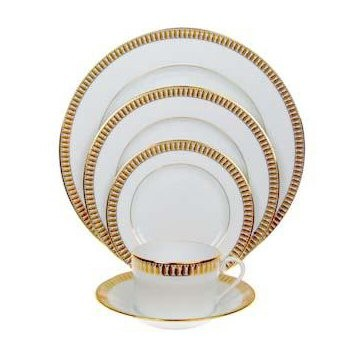 Plumes Or Large dinner plate, 28cm