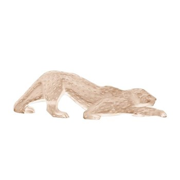 Zeila Panther figure, H11 x L36.5 x W7.5cm, gold