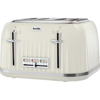 Impressions Toaster, 4 slot, vanilla cream