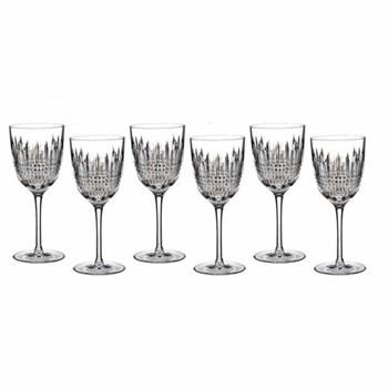 Lismore Diamond Set of 6 goblet wine glasses, 22.3cm