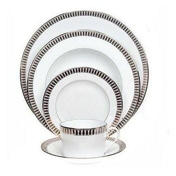 Plumes Platine Large dinner plate, 28cm