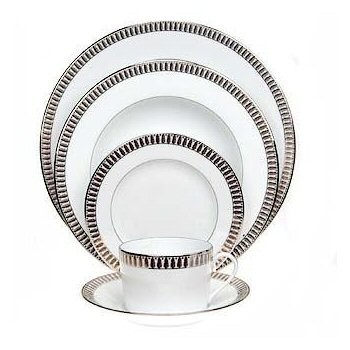 Plumes Platine Dessert plate, 22cm