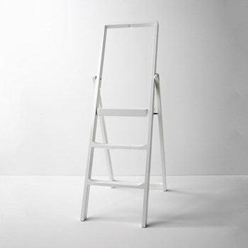 Stepladder, W45 x H132 x D5cm, white