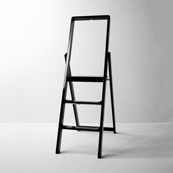 Stepladder, W45 x H132 x D5cm, black