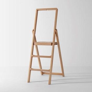 Stepladder, W45 x H132 x D5cm, oak