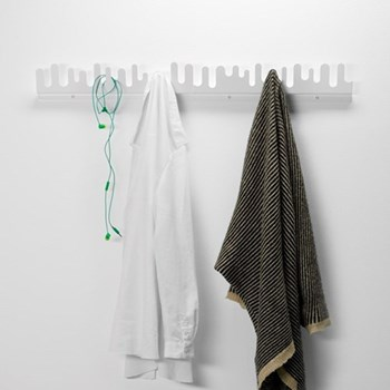 Wave hanger, L90 x H11cm, white