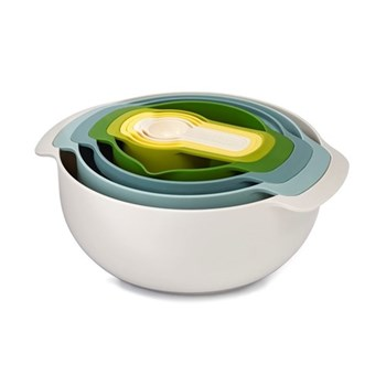 Nest Plus Set of 9 nesting bowls, opal