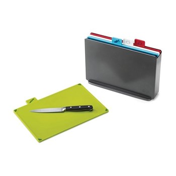 Index Colour-coded chopping board set, L33 × W23.5 × D8.5cm, graphite