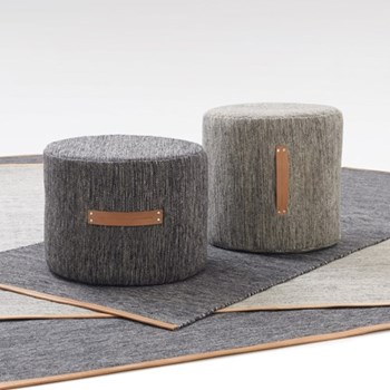 Bjork Stool, D40 x H40cm, light grey