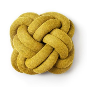 Knot Cushion, 30 x 30 x 15cm, yellow
