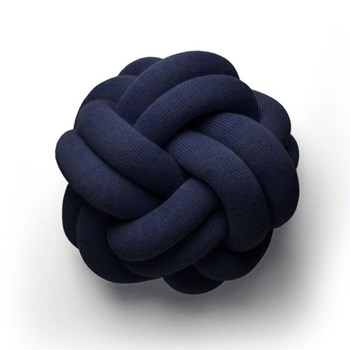 Knot Cushion, 30 x 30 x 15cm, navy