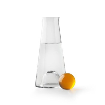 Fia Carafe, D12 x H25cm, clear and amber