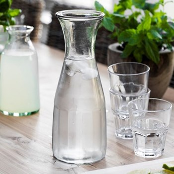 Bistro carafe, clear glass