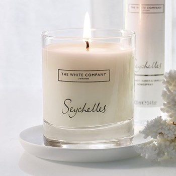 Seychelles Scented signature candle, H8.5 x D7.8cm