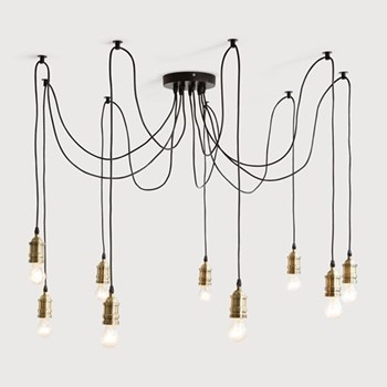 Starkey Chandelier, D100 x H100cm, brass