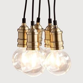 Starkey Pendant light, brass