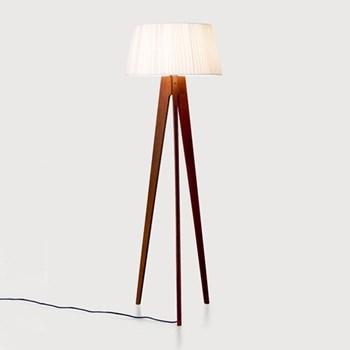 Miller Floor lamp, H150 x W50 x D50cm, walnut and navy
