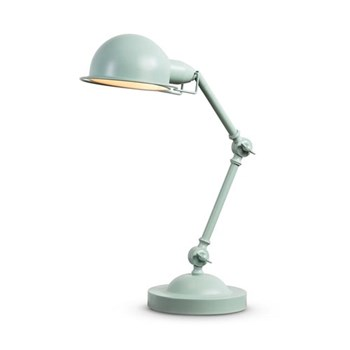Jenkins Table lamp, H50 x W38 x D18cm, duck egg blue metal