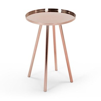Alana Bedside table, H59 x W41 x D41cm, copper