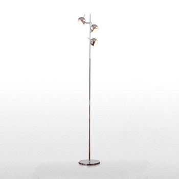 Austin Floor lamp, H165 x W27 x D27cm, chrome