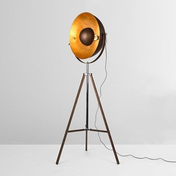 Chicago Floor lamp, 164 x 67 x 67cm, antique copper and gold